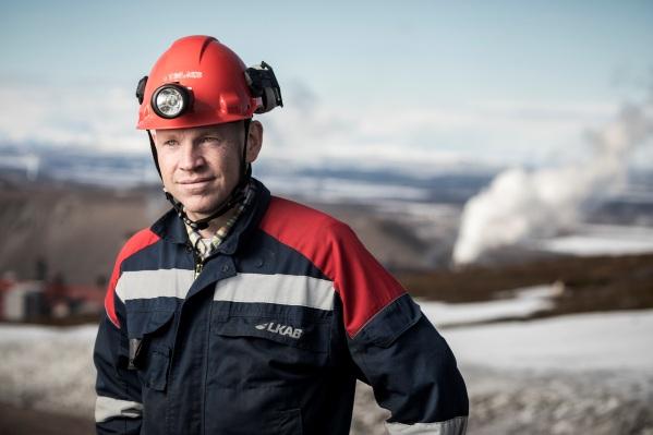 Nils Stenberg, Mine Manager, Kiruna.